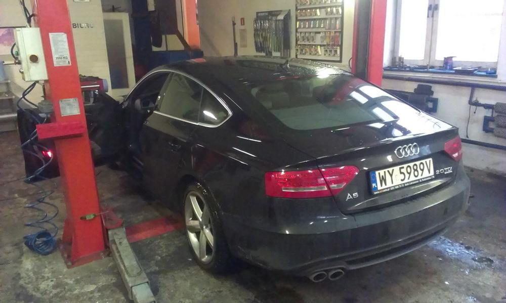 Audi A6 - szybki serwis ukladu hamulcowego