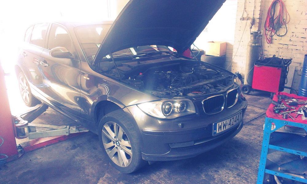 BMW 118 - tak wygląda turbo, jeżeli nie wymienia się filtra powietrza na czas :)