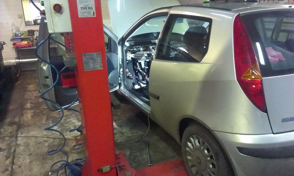 Fiat Punto - wymiana nagrzewnicy