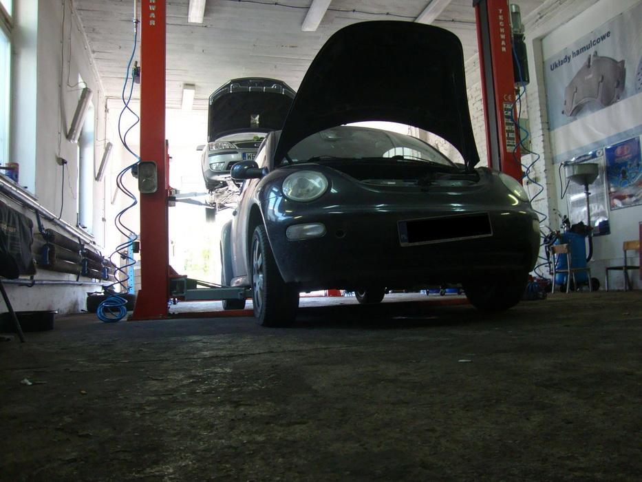 VW New Beetle - przekręcona turbosprężarka
